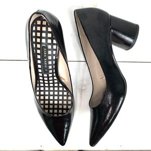 "ZARA Basics black chunky 2"" heel pumps S-39"